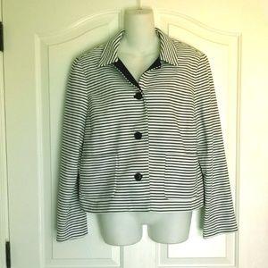Womens Liz Claiborne Black and White Coat XL